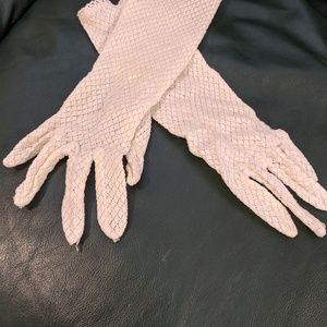 Hand crocheted gloves